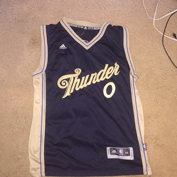 promo code 3022d 5b30e Russell Westbrook Christmas game jersey.